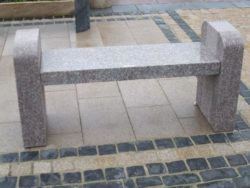 Bookend Design Granite Bench