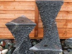 SET OF 3 GRANITE TWISTS