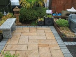 Natural Stone Paving in Burnt Barley Granite