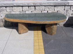 Basalt Stone Bench