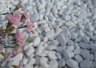 Snow white pebbles 20-30mm