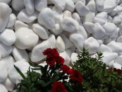 Snow white cobbles 20-40mm