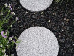 Silver Granite Stepping Stones