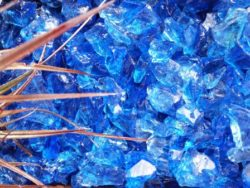 Blue Glass Chippings