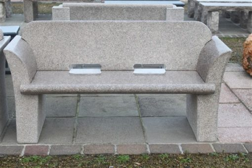 POLISHED PINK GRANITE BENCH