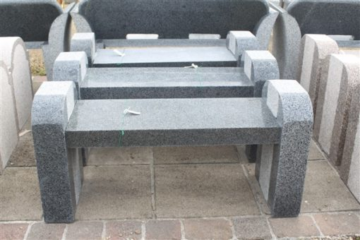 BOOKEND BENCH DARK GREY GRANITE