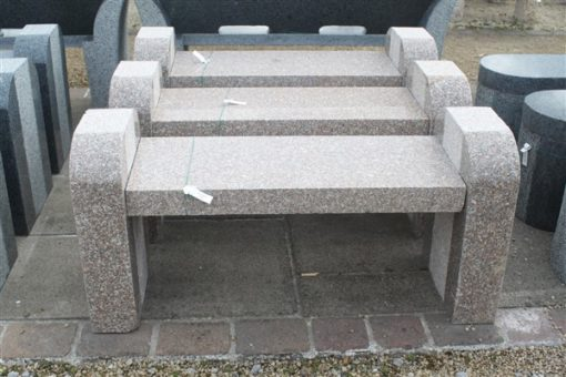 BOOKEND BENCH PINK GRANITE