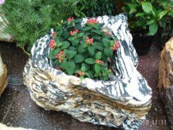Black and White Stripe Planter