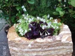 Multi Coloured Strip Rock Planter