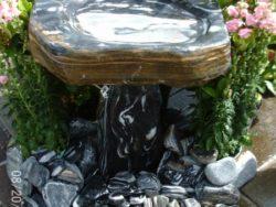 Natural Stone Birdbath (Zebra 63)