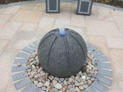 SEGMENTED GRANITE BALL WATER FEATURE
