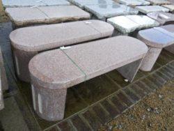 Oval Shape Granite Bench