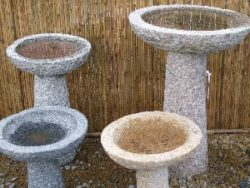 Natural Stone Bird Bath