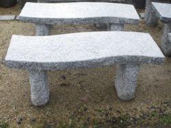 Silver Grey Granite S Shape Bench