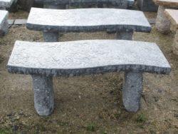 Dark Grey Granite S Shape Bench