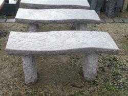 Pink Granite S Shape 1m Bench