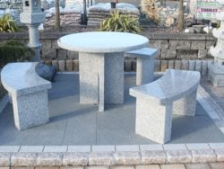 SILVER GREY GRANITE PATIO SET