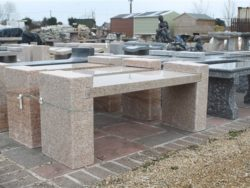 H Shape Granite Bench