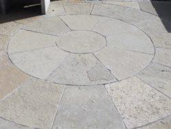 TUMBLED YELLOW LIMESTONE CIRCLE