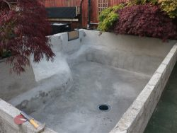 CONCRETE POND BEFORE POND PAINT