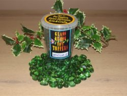 GREEN GLASS BEADS POT TOPPERS