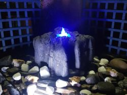 NATURAL ROCK WATER FEATURE WITH BLUE LED LIGHT