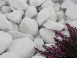 SNOW WHITE COBBLES 80-130MM